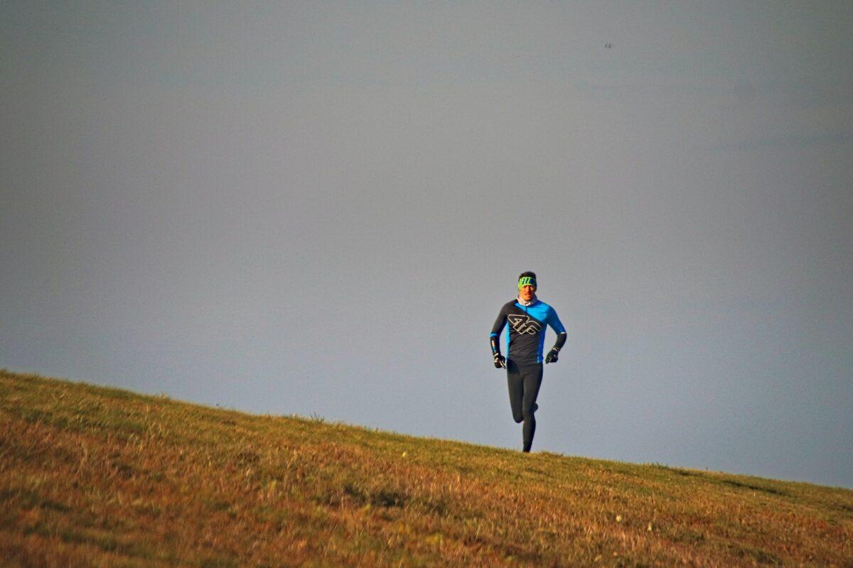 Löpare vid horisonten